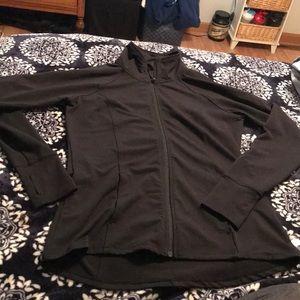 Black workout jacket